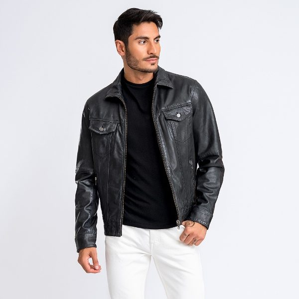 Jofama Emil Leather Jacket Lamb Black Size 52